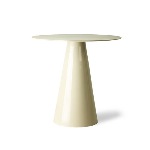 Cream or Black Cone Base Round Side Table