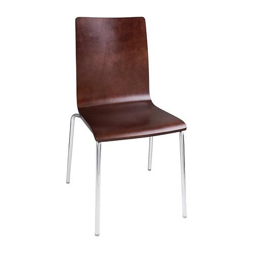 Set 4 x Danish Bentwood Dining Chair, Walnut Veneer - Colours