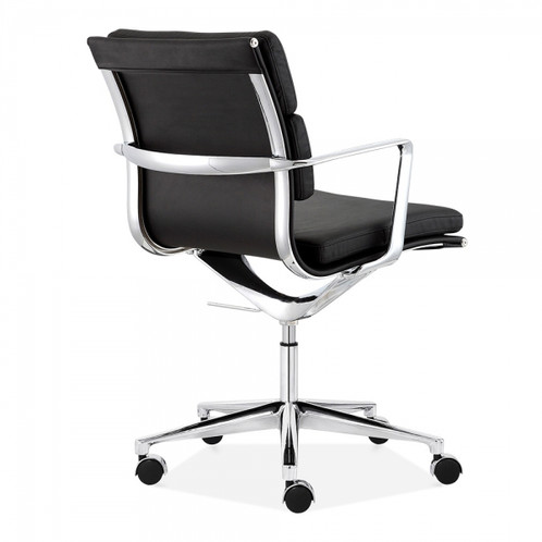 These Super Soft Faux Leather And Silver Office Chairs Are Super Comfy And  With The Swivel Mechanism They Help You Bounce Into The Day.