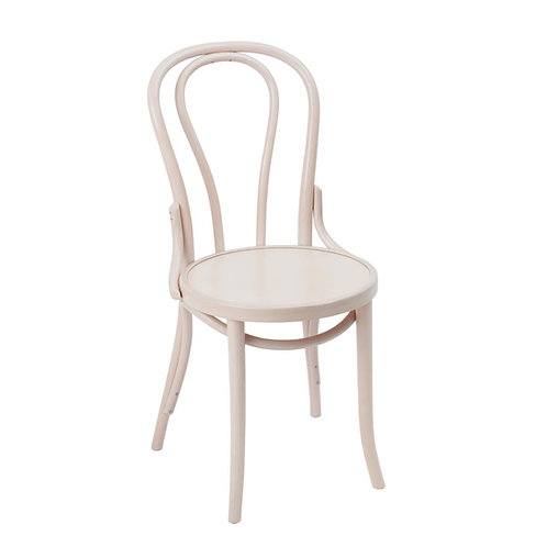 White Wood French Cafe Dining Chairs - Set of 2
