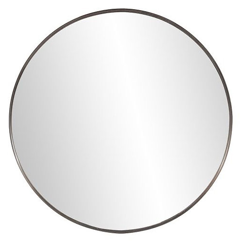 Arco Art Deco Round Black Mirror