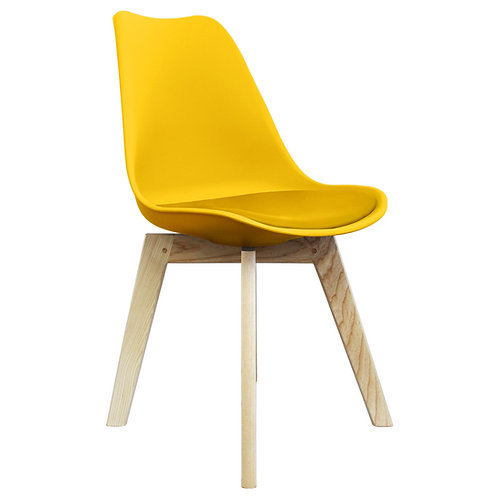 Square Leg Scandi Style Dining Chair - Natural Square Base -Colour