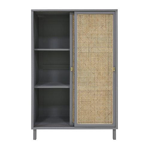 Grey Kamakura Sliding Door Storage Cabinet
