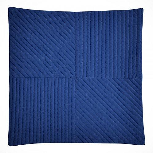 Navy Blue Quilted Velvet Cushion