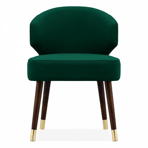 Boutique Green Velvet Upholstered Dining Chair