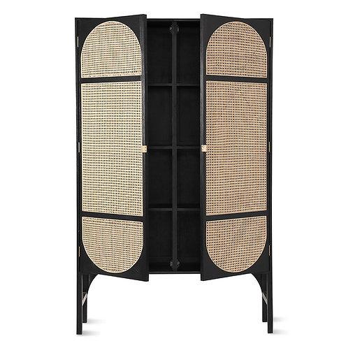 Black Kimono Style Storage Cabinet