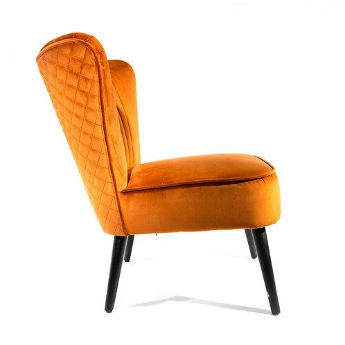 Burnt Orange Velvet Bedroom or Lobby Chair