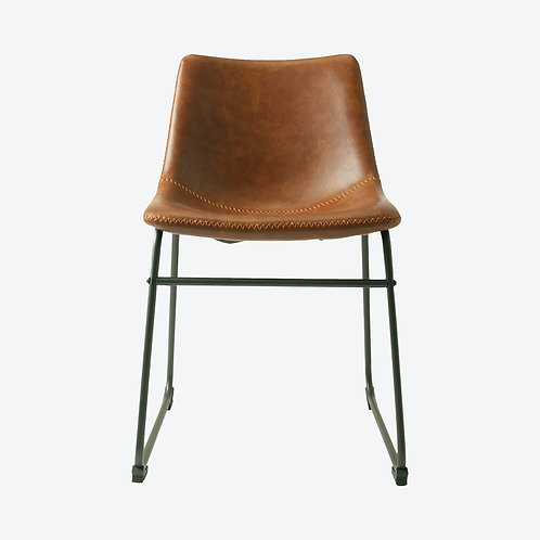 Tan Faux Leather Dining Chair  Set of 2 - Free delivery