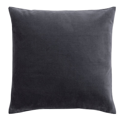 Charcoal Grey Velvet Cushion