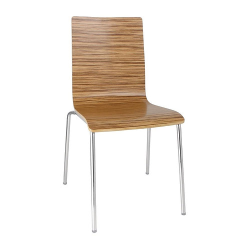Set 4 x Danish Bentwood Dining Chair, Mix Marled Wood Veneer - Colours