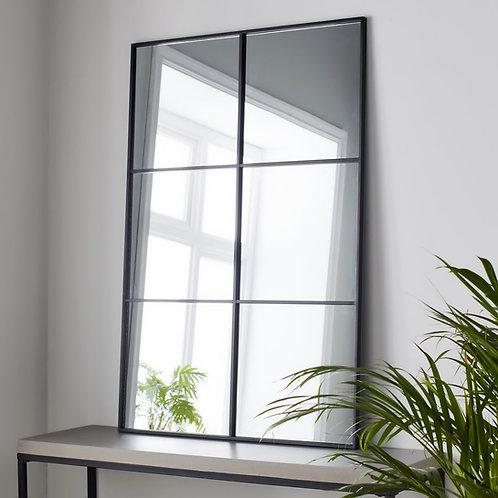 Hoxton Black Window Mirror