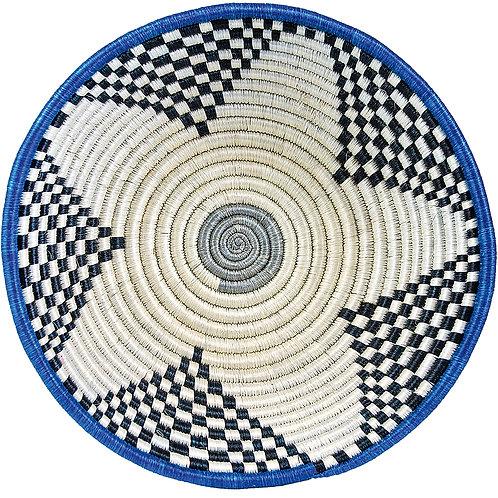 African Star Blue Hand Woven Basket