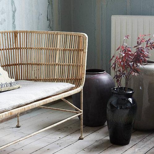 Bamboo Rattan Sofa - Natural or Black