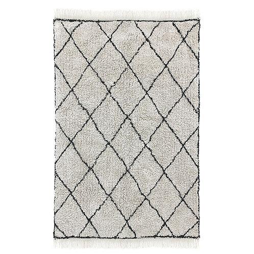 Cotton Berber Style Diamond Rug