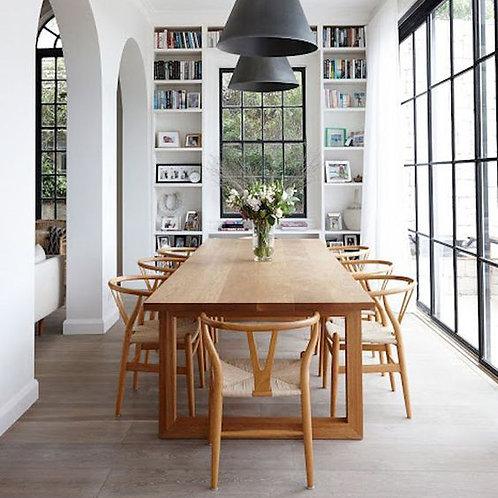 Set 4 Scandinavian Wishbone Dining Chair