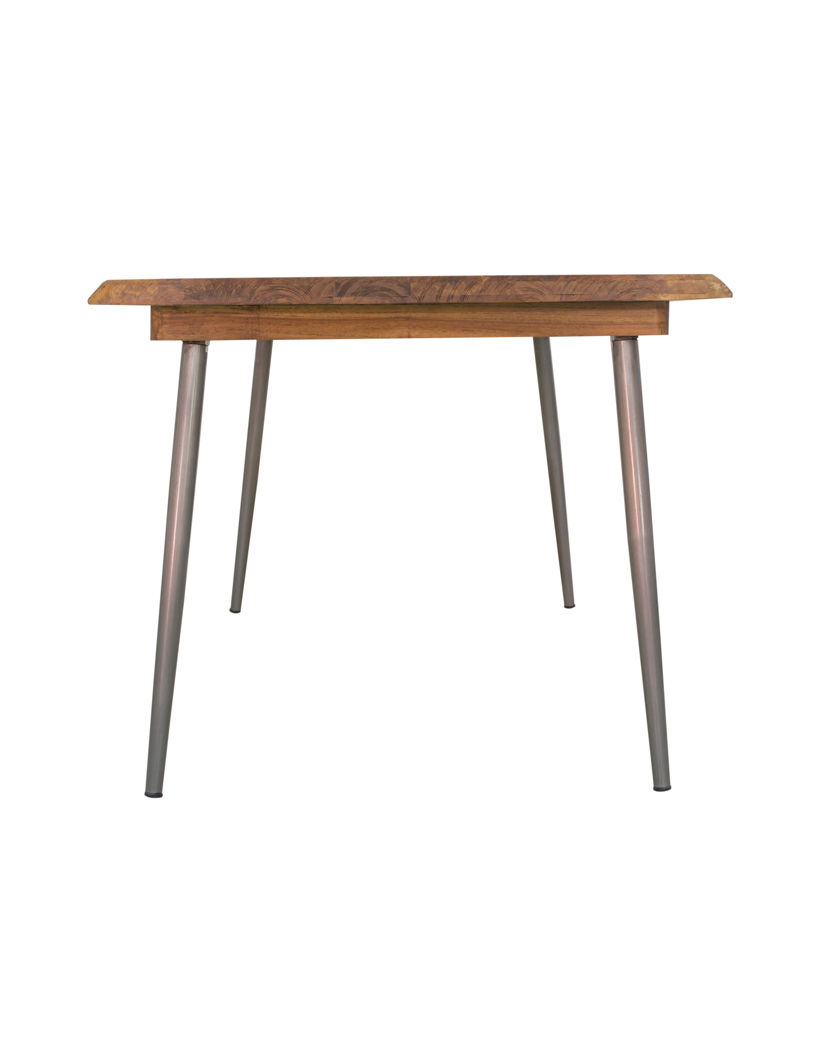 Rustic Steamer Solid Mango Wood Dining Table Ciellondon