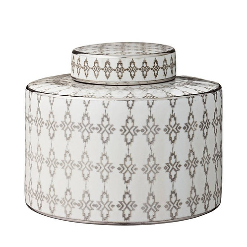 Hand Crafted Ceramic Silver Ginger Jar