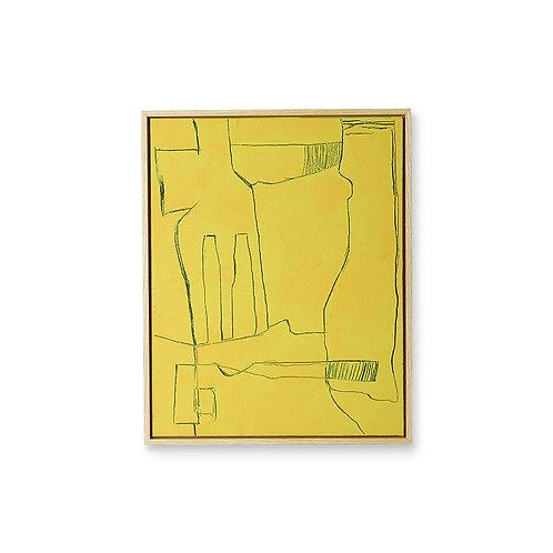 Yellow Modernist Movement Original HKL Artwork