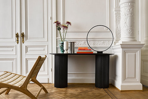 Doric Pillar Black Console table.