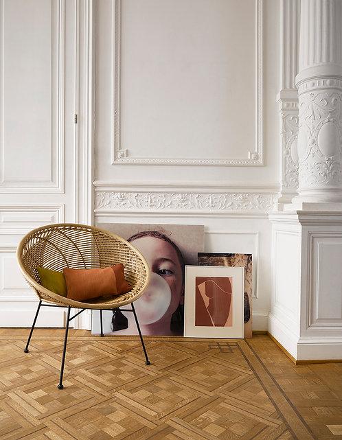 Cane Ball Round Chair Natural Rattan