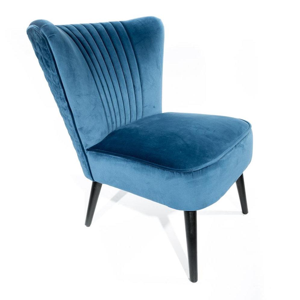 Dusty Blue Velvet Bedroom Or Lobby Chair