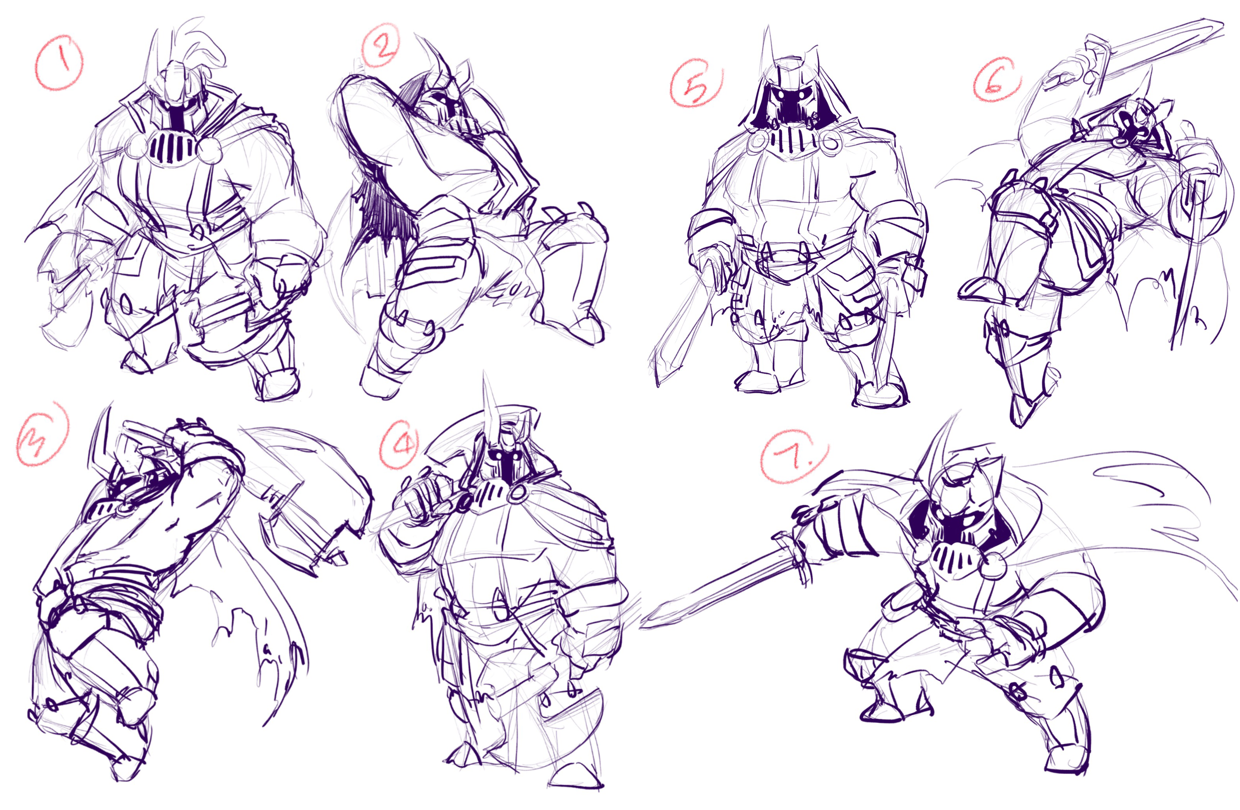 Knight pose Page 1