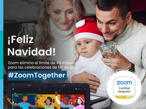 Celebra la NAVIDAD y Fin de Año con reuniones ilimitadas #ZoomTogether: