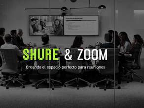 Soluciones de audio SHURE certificadas con Zoom Rooms