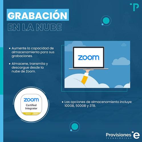 Zoom Cloud Recording 100GB (Suscripción Anual - 1 AddOn)