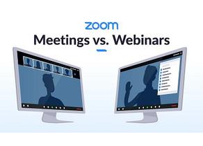 Zoom Meeting vs Webinars
