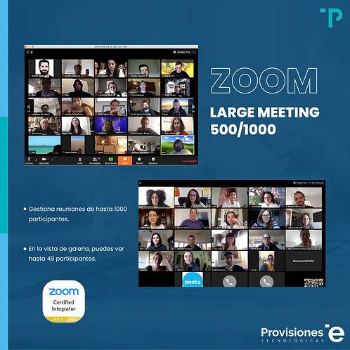 Zoom LargeMeeting 500 (Suscripción Anual - 1 AddOn)
