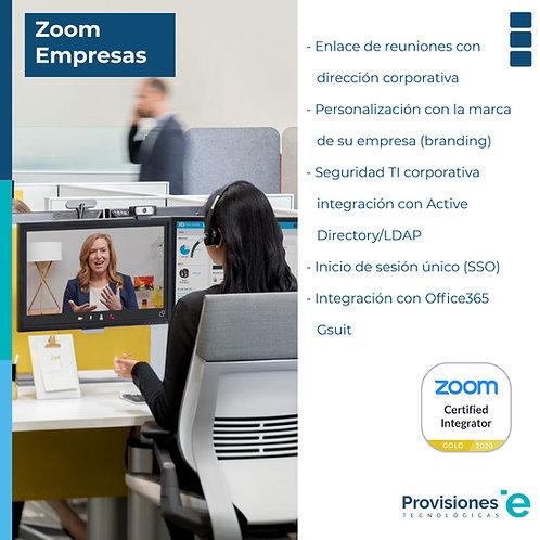 Zoom Meeting Empresas (suscripción anual, 01 anfitrión)