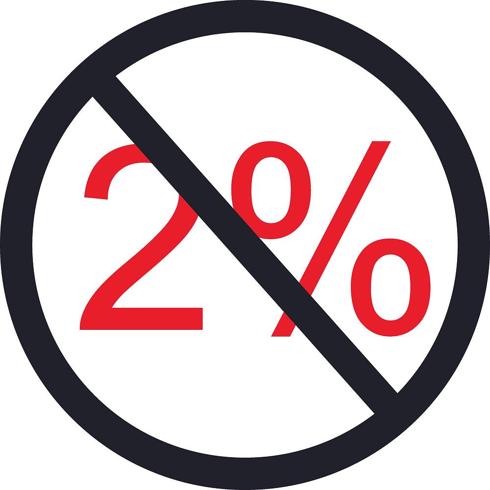 2% disclaimer