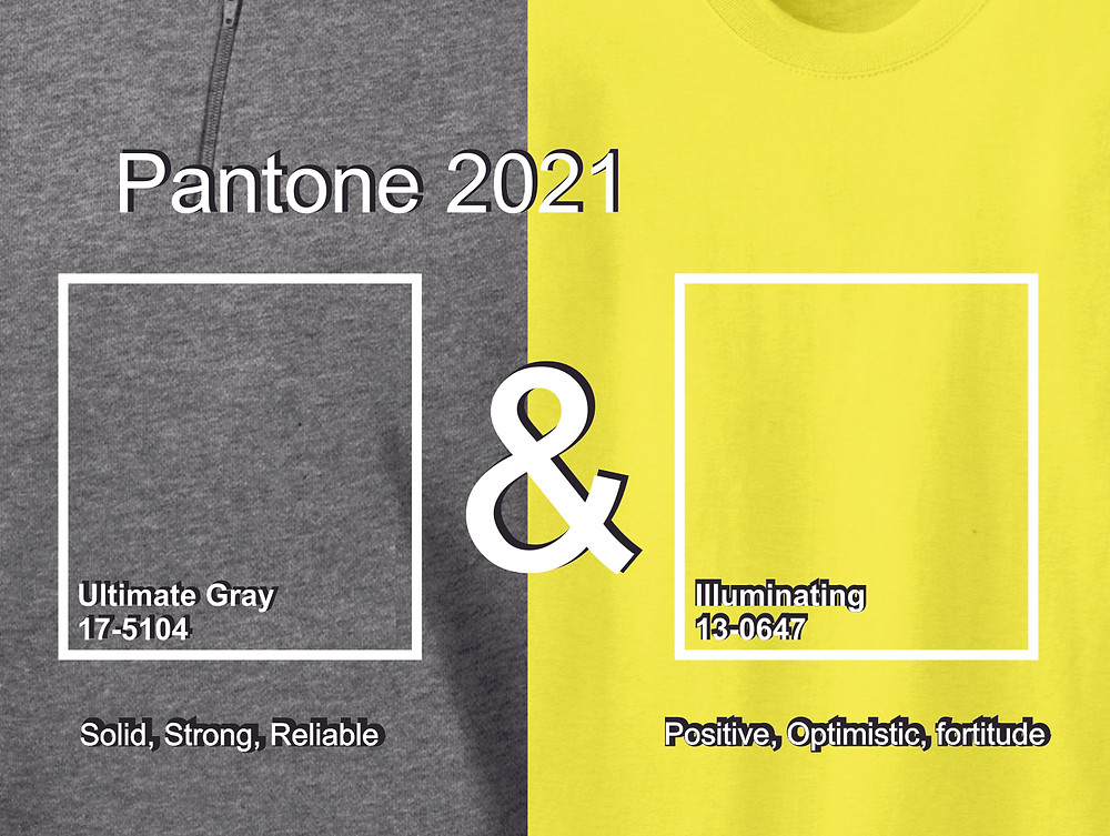 examples of Pantone's 2021 colors