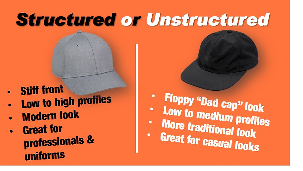 Structured vs unstructured hat comparison