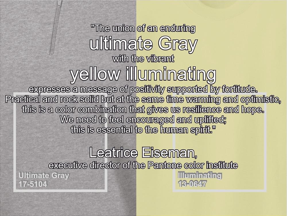 ultimate grey, grey, yellow illuminating, Pantone 2021