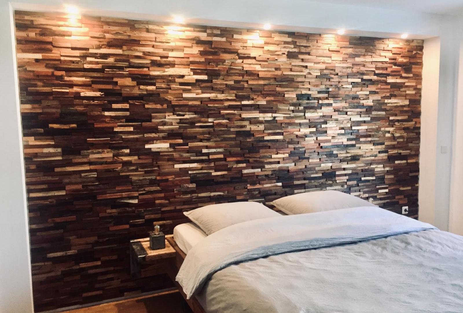 Wandverkleidung rustikal Holz