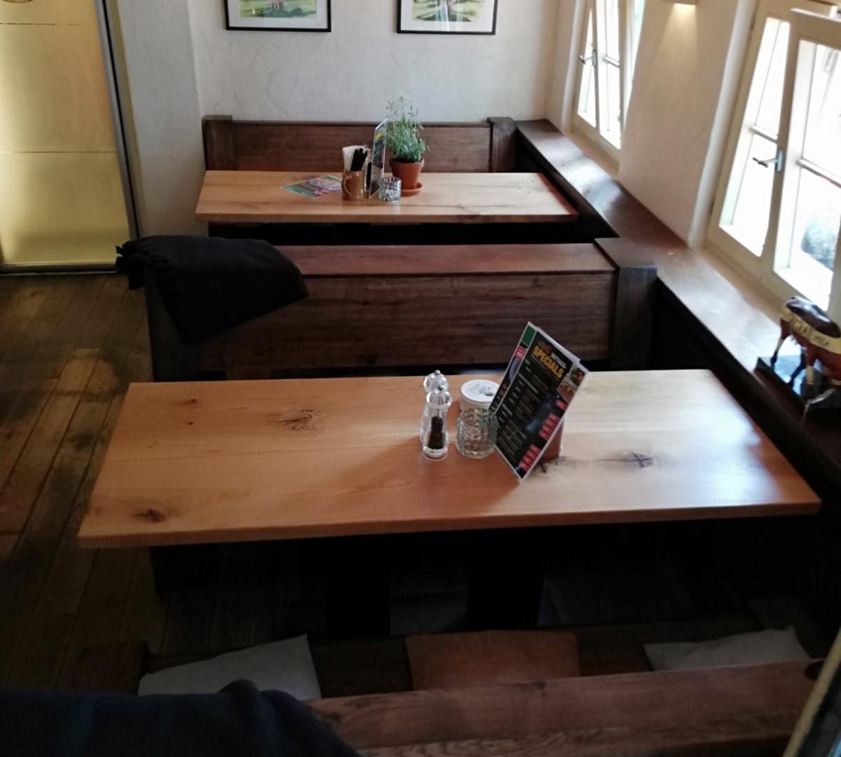 Eiche rustikal Tische Bänke Sitzbänke