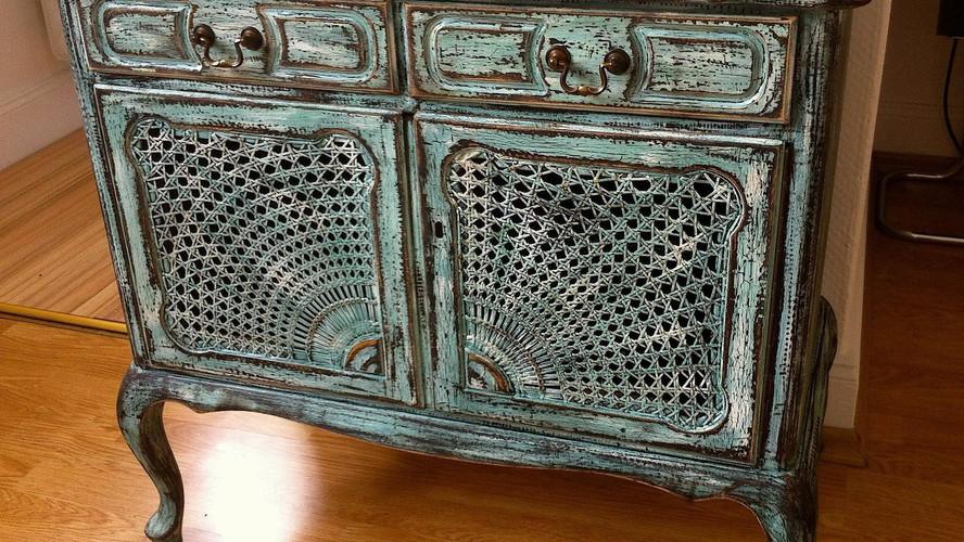 Vintage Chippendale Oberfläche Antikkonzept