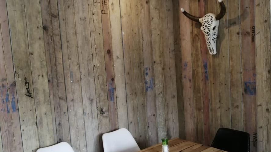 Vintage Wand Holz upcycling