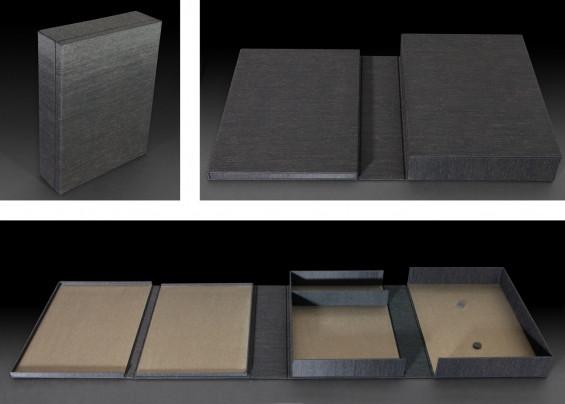 קופסא לעבודת וידאו ב-4 חלקים, עם מקום לשני דיסקים, מחשב מיני מאק, כבל חשמל ותעודת מקוריות.