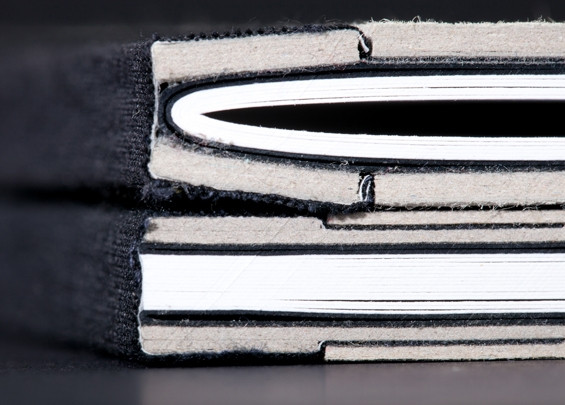 ספר בכריכה קשה, חיתוך בלוק. (פרט)