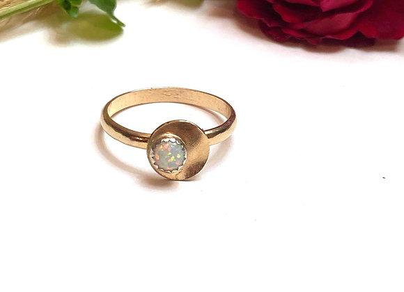 OOAK opal & rose gold