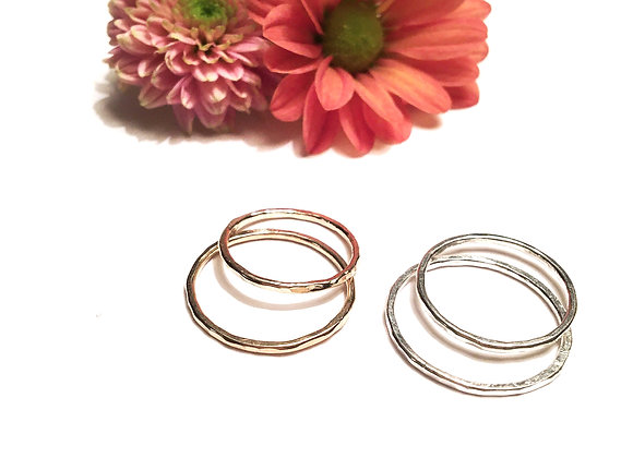 hammered stacking rings