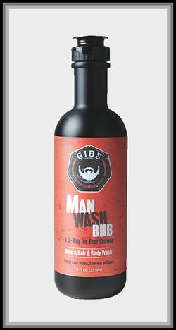 Man Wash BHB Beard, Hair & Body Wash