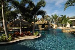 Luxury pool swim up bar and grato