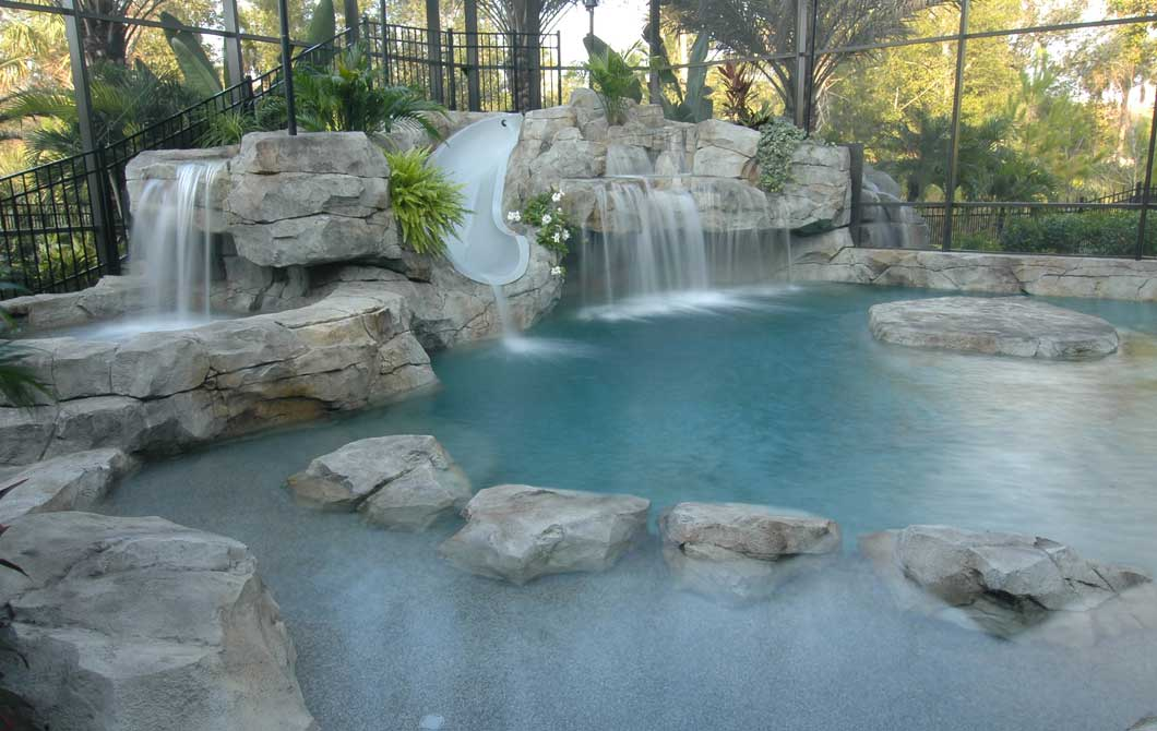 custom-pool-with-waterfalls-and-slide