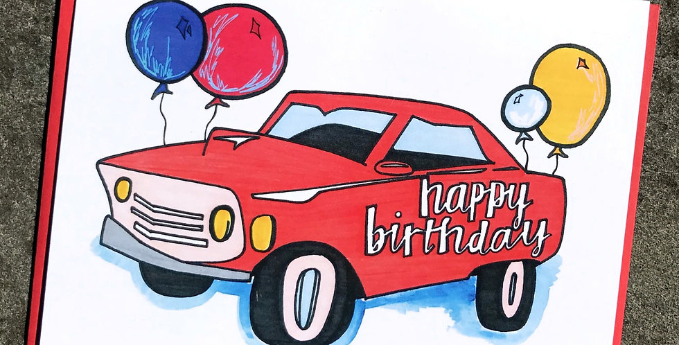 Happy Birthday Car