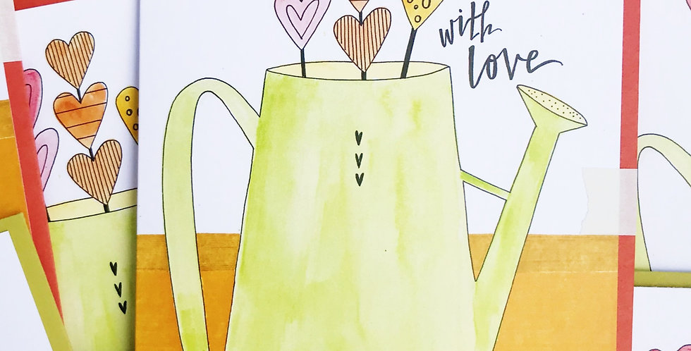 With Love Watering Can