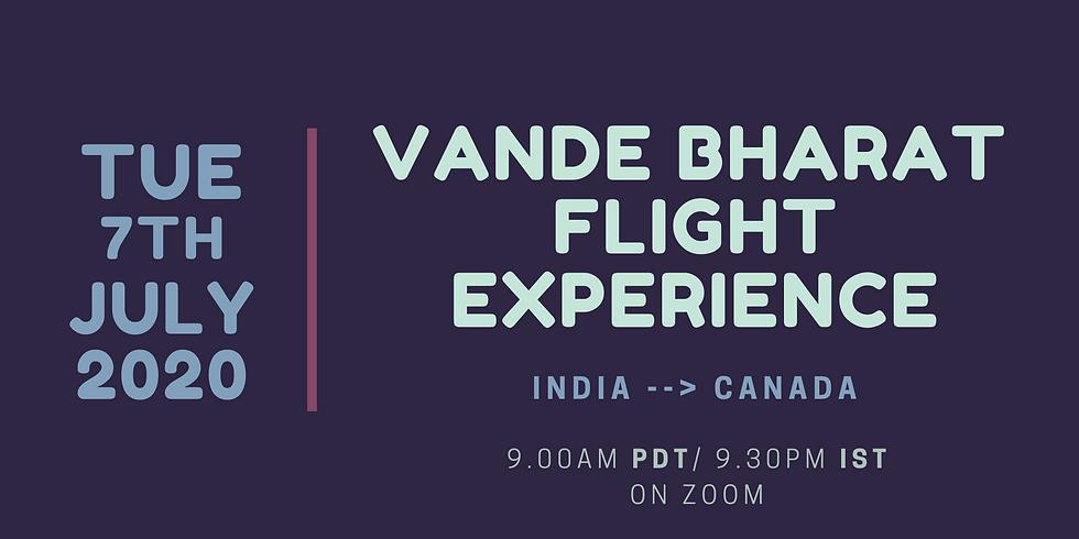 Vande Bharat Flight Experience